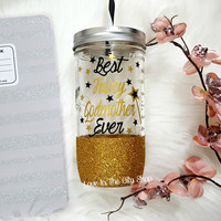 Best Fairy Godmother Tumbler (Glass Tumbler)