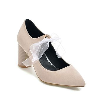 Pointed Toe High Heel Lace-up Bridal Shoes