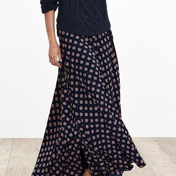 Banana Republic Womens Foulard Maxi Skirt