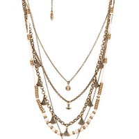 Ettika Five Layer Necklace in Metallic Bronze