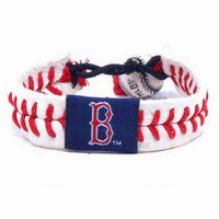 Gamewear MLB Leather Wrist Band - Red Sox Classic Band