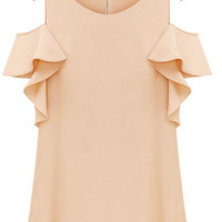 Off Shoulder Peach Top