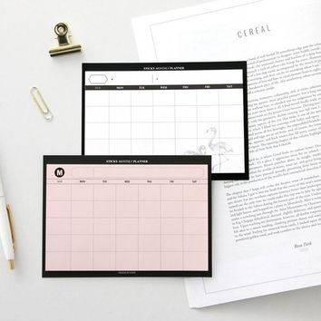 Basic Monthly Schedule Sticky Note