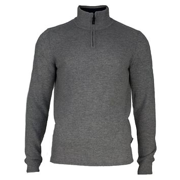 Ben Sherman - Lambswool Half-Zip Mens Funnel Neck Sweater