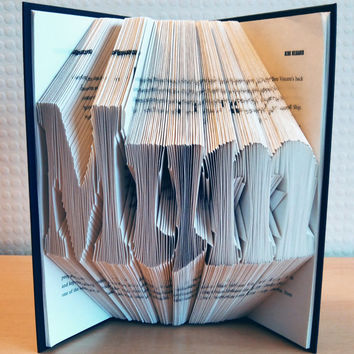 Folded Book Art - Mother's Day Gift - MUM - Unique Present - Book Lover - Home Decor - Presents for Mothers / Moms - Handmade - Unique Gift