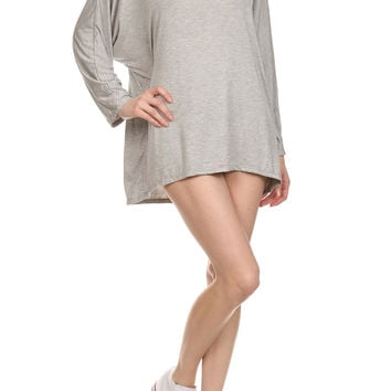 POPSOFT Dolman Top - Grey