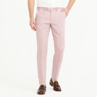 Bowery slim pant in linen-cotton oxford