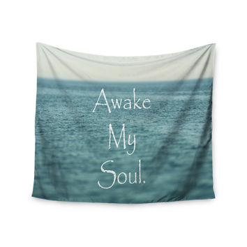 "Debbra Obertanec ""Awake My Soul"" Blue Teal Wall Tapestry"