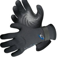 NeoSport Wetsuits Premium Neoprene 3mm Five Finger Glove, Black, Large - Diving, Snorkeling & Waterskiing