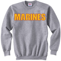 'Marines' Crew Neck Sweatshirt