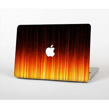 The Fiery Glowing Gradient Stripes Skin Set for the Apple MacBook Pro 15""