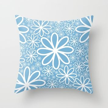 Just another flowers texture Throw Pillow by Lauryngrafica