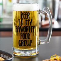 Beer Is My Favorite Food Group Beer Mug