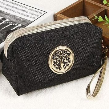 High quality Large Capacity Travel Make up Bag Portable Cosmetic Bag Purse Pouch Sac a Main Brand Make Up Pouch In 2017-2