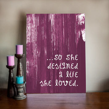 Inspirational Art Print - Art Painting - Mixed Media Inspirational Art on Stretched Canvas - Choose your color!