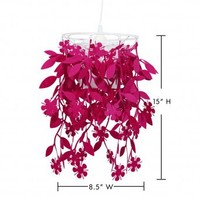 Wake Up Frankie - I Felt Vine Pendant Light - Candy Pink : Teen Bedding, Pink Bedding, Dorm Bedding, Teen Comforters