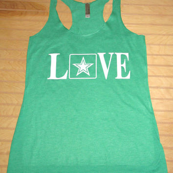 Women's Tri Blend Racerback Tank Top LOVE Army, Army Wife