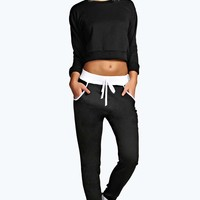 Sarah Contrast Binding Knitted Jogger