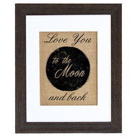 Love you to the Moon, Mixed Media
