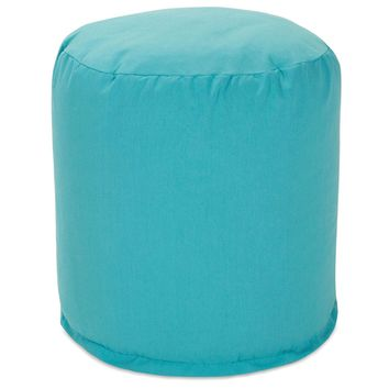 Teal Small Pouf
