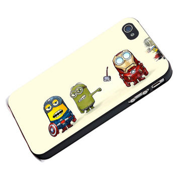 Despicable Me Minions Cute for iPhone 4/4s, iPhone 5, Samsung Galaxy S3, Samsung Galaxy S4 Case Cover