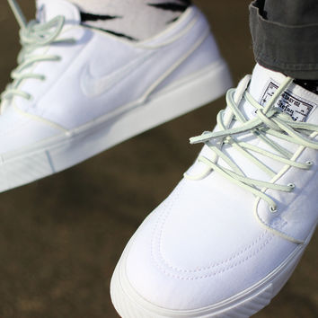 White Leather Laces