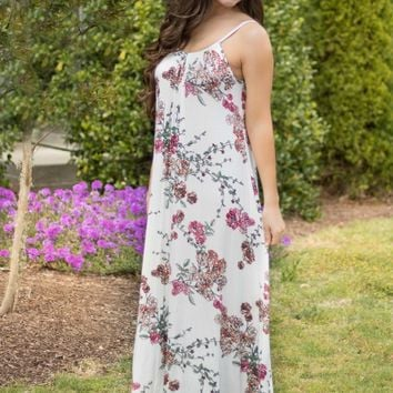 Flawless Floral Boho Maxi Dress