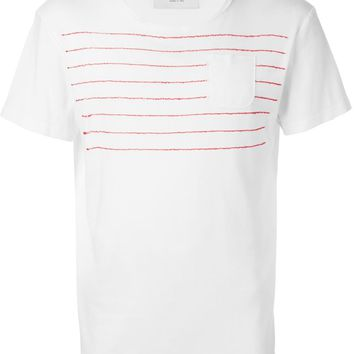 Jimi Roos embroidered striped T-shirt
