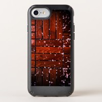 Cool Brown Wooden Ply texture With Wintry Snow Ice Speck iPhone Case