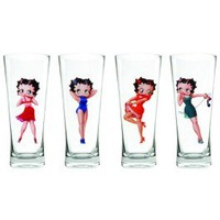 "Betty Boop "" Multi Betty"" Pin Up Flared Pilsner Set Your favorite online gift shop!"