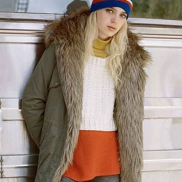 Members Only X UO Faux Fur-Lined Parka-