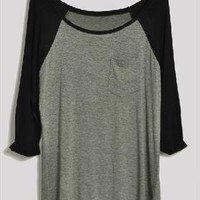 3 / 4 sleeve grey sweatshirt from Bblythe
