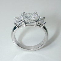 3.25ct Radiant Cut Diamond Engagement Ring GIA certified 18kt JEWELFORME BLUE