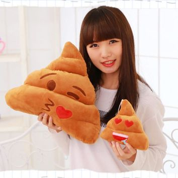 Cute Stuffed Plush Toy Doll Poop Pillow Soft Emotion Emoji Pillows
