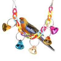 Pet Bird Ringer Hanging Swing Cockatiel Parakeet Toy