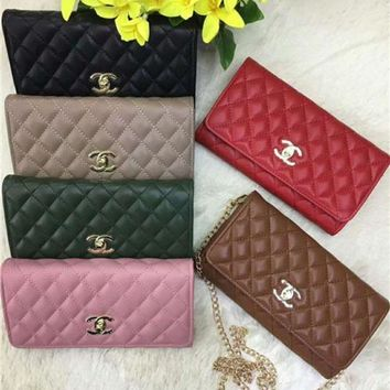 LMFON Chanel' Simple Fashion All-match Quilted Chain Single Shoulder Messenger Bag Women Small Square Bag