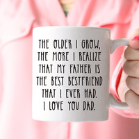 Dad Bestfriend Coffee Mug, Gift for Dad
