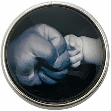 Baby-Daddy Fist Bump Snap 20mm for Snap Jewelry