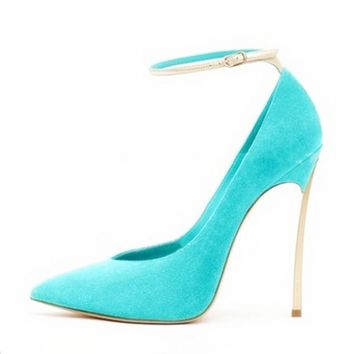 Brand Women Shoes High Heels Women Pumps 12CM Thin Heels Black Wedding Shoes For Women Sexy High Heels Pointed Toe Shoes B-0228
