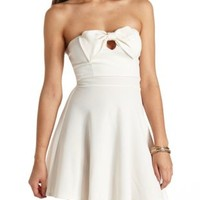 Bow-Front Strapless Skater Dress by Charlotte Russe