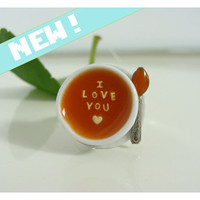 I Love You Alphabet Soup ring -