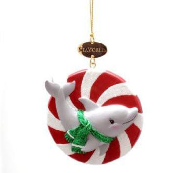 SeaWorld Dolphin Candy Ornament New with Tag