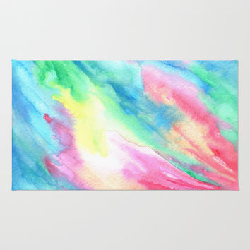 Rainbow Connection Area & Throw Rug by Rosie Brown | Society6