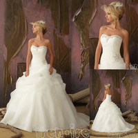NEW White/Ivory Wedding Dresses Bride Gown Ball Gown Stock Size 6-8-10-12-14-16