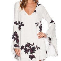 Free People Wanderer Mini Dress in Cream
