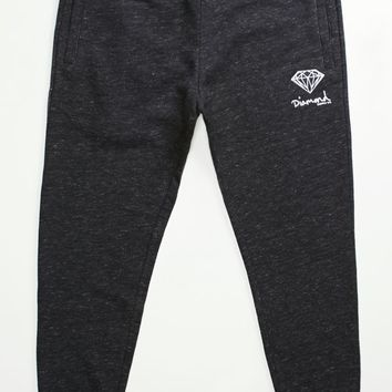 Diamond Supply Co Pavilion OG Script Fleece Jogger Pants - Mens Pants - Black