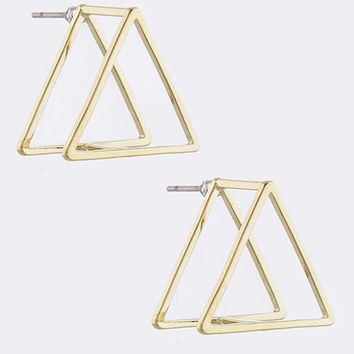 Life & Style Triangle Earrings