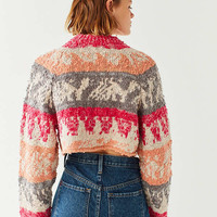 Ecote Stella Cropped Yarn Knit Sweater | Urban Outfitters