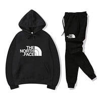 THE NORTH FAACE Womens Sportswear Hooded Top Sweatshirt Pants Two Pieces