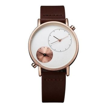 TOMI Luxury Leather Strap Watch